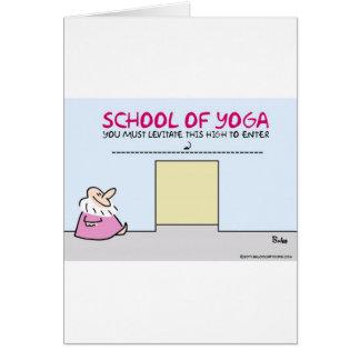 Yogaschule schweben Hoch muss hereinkommen frei Karte
