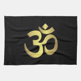 Yogasymbol OM (Om) Namaste Küchentuch