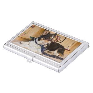 Yogi der Wissenschafts-Hund Visitenkarten Etui