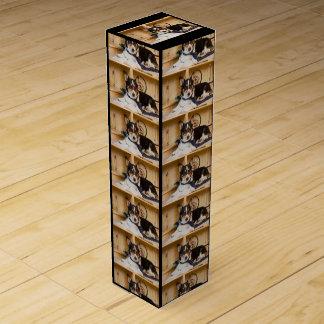 Yogi der Wissenschafts-Hund Wein-Geschenkverpackung