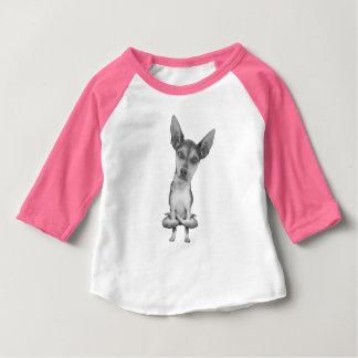 Yogi Doggie cute dog im Yoga asana, cool, funny Baby T-shirt