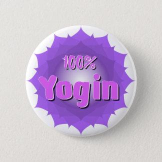 Yogin runder Knopf mit violetter Mandala Runder Button 5,1 Cm