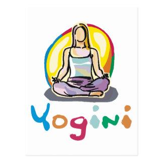 Yogini Postkarte