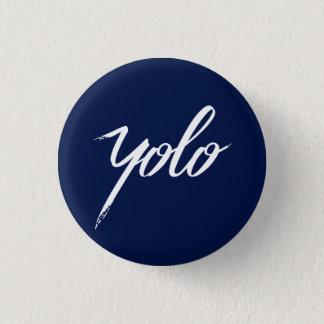 YOLO-Blau Runder Button 2,5 Cm