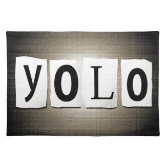 YOLO-Konzept Tischset