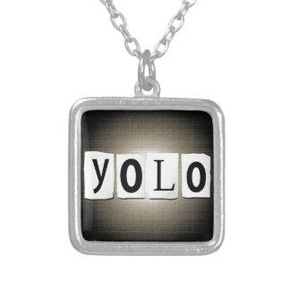 YOLO-Konzept Versilberte Kette