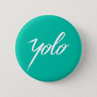YOLO-Türkis Runder Button 5,1 Cm