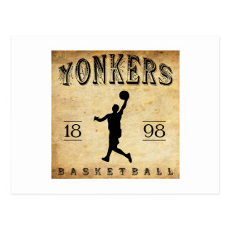 Yonkers New York Basketball 1898 Postkarte
