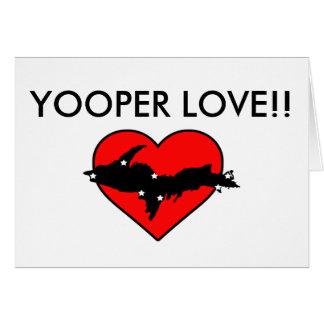 Yooper Liebe! Grußkarte