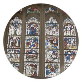 York-Münster-großes Ostfenster Melaminteller