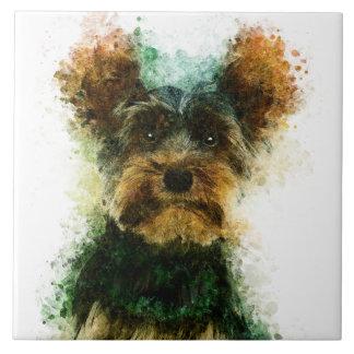 Yorkie/Haustier-Porträt Yorkshires Terrier Keramikfliese