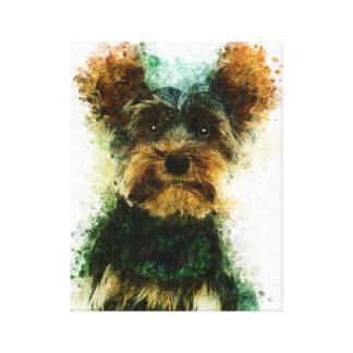 Yorkie/Haustier-Porträt Yorkshires Terrier Leinwanddruck