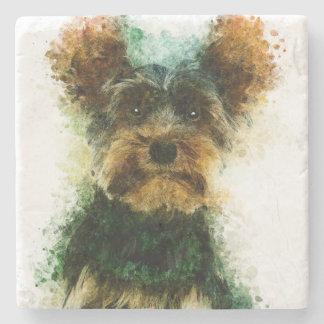 Yorkie/Haustier-Porträt Yorkshires Terrier Steinuntersetzer