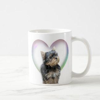 Yorkie Herz Kaffeetasse