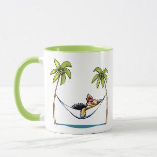 Yorkie Insel-Prinzessin Weg-Leine Art™ Tasse