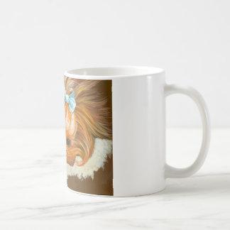 Yorkie Mutter mit Welpen Tee Tassen