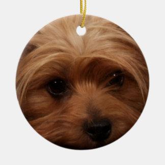 Yorkie oder Ihr Hundebild Keramik Ornament