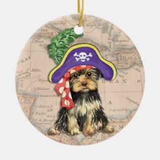 Yorkie Pirat Keramik Ornament