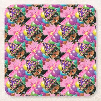 Yorkie Poo Party-Hund Rechteckiger Pappuntersetzer