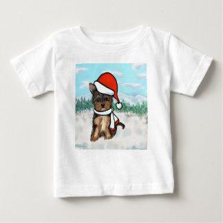 Yorkie Poo Weihnachten Baby T-shirt