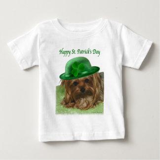 Yorkie St Patrick Tag Baby T-shirt