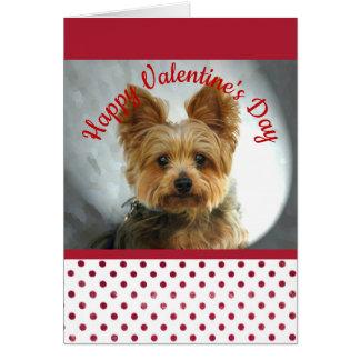 Yorkie Valentinsgruß Karte