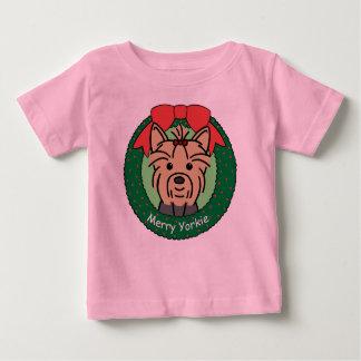 Yorkie Weihnachten Baby T-shirt