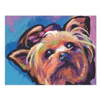 Yorkie Yorkshire Terrier-Pop-Kunst Postkarte