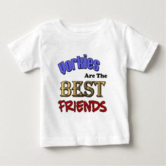 Yorkies sind die besten Freunde Baby T-shirt