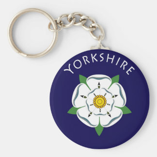 Yorkshire-Rose Keychain Standard Runder Schlüsselanhänger
