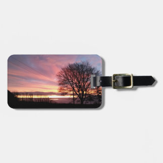 Yorkshire-Sonnenunterganggepäckaufkleber mit Kofferanhänger