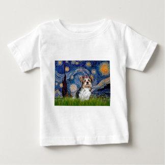 Yorkshire Terrier (Biewer) - sternenklare Nacht Baby T-shirt