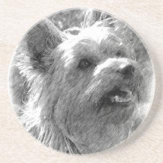 Yorkshire-Terrier-Bleistift-Zeichnen Untersetzer