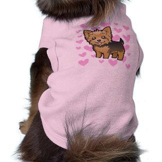 Yorkshire-Terrier-Liebe (kurzes Haar kein Bogen) Top