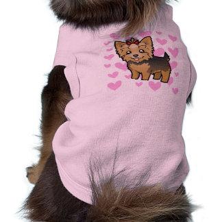 Yorkshire-Terrier-Liebe (kurzes Haar mit Bogen) T-Shirt