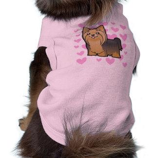 Yorkshire-Terrier-Liebe (langes Haar kein Bogen) Top