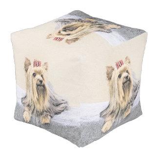 Yorkshire-Terrier-Malerei - niedliche Kubus Sitzpuff