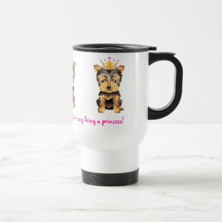 Yorkshire-Terrier-Prinzessin Dog Coffe Travel Mug Edelstahl Thermotasse