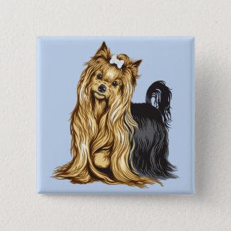 Yorkshire-Terrier Quadratischer Button 5,1 Cm