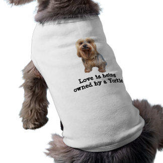 Yorkshire-Terrier-so niedliche Haustier-Kleidung T-Shirt