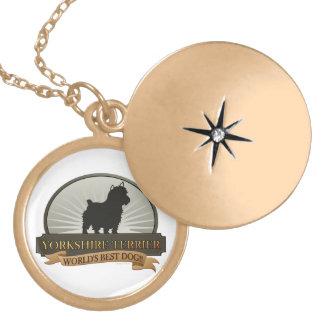 Yorkshire Terrier Vergoldete Kette