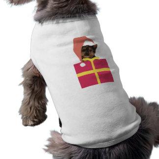 Yorkshire-Terrier-Weihnachtsmannmütze T-Shirt