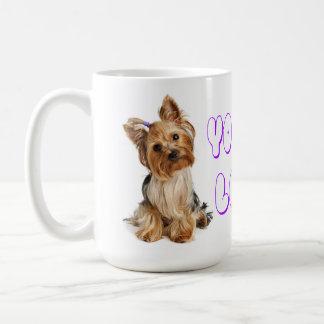 Yorkshire-Terrier-Welpen-Türkis-Polka-Punkt-Tasse Kaffeetasse