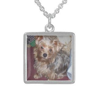 Yorkshire-Terriersterlingsilberanhänger Sterling Silberkette