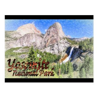 Yosemite, der Postkarte skizziert