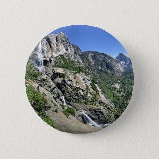 Yosemite Falls und halbe Haube von oh meinem Mann Runder Button 5,7 Cm