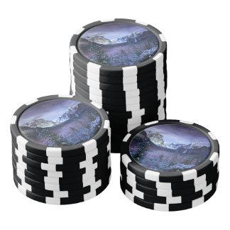 Yosemite im Winter Poker Chip Set