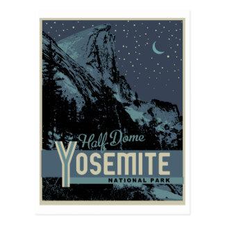 Yosemite Nationalpark halbe Hauben-Postkarte Postkarte