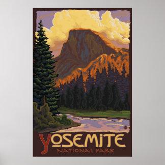 Yosemite Nationalpark - halbes Hauben-Reise-Plakat Poster