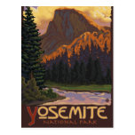 Yosemite Nationalpark - halbes Hauben-Reise-Plakat Postkarten